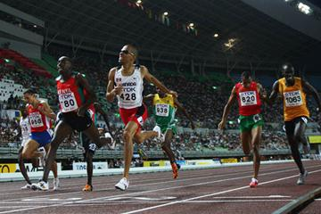 Alfred Kirwa Yego sprints to gold in the men's 800m final (Getty Images)
