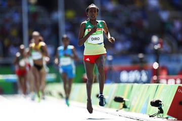 Etenesh Diro in the 3000m steeplechase at the Rio 2016 Olympic Games (Getty Images)