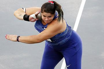 Chase Ealey in the shot put at the US Championships (Getty Images)
