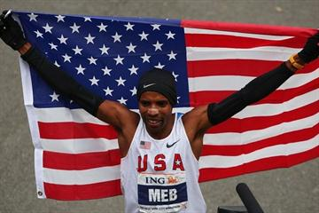 Meb Keflezighi in New York after his first marathon victory (Getty Images)