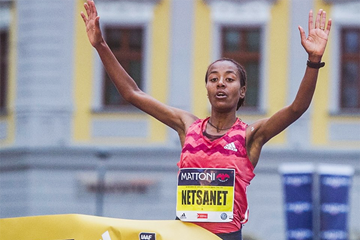 Netsanet Gudeta wins the Olomouc Half Marathon (Organisers)