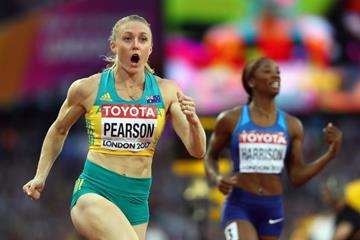 Sally Pearson after winning the 100m hurdles title at the IAAF World Championships London 2017 (Getty Images)