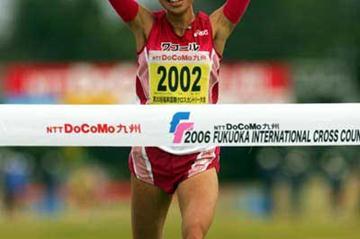 Kayoko Fukushi (JPN) takes runaway victory in Fukuoka XC (Kazutaka Eguchi/Agence SHOT)