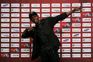 Usain Bolt arriving in Daegu (Colorful Daegu Meeting organisers)