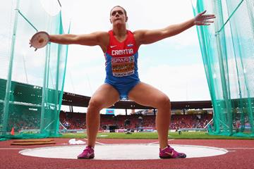 Sandra Perkovic at the 2014 European Athletics Championships (Getty Images)