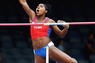 Cuba's Yarisley Silva in the pole vault (Getty Images)