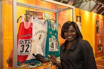 Pauline Davis-Thompson - IAAF Centenary Historic Exhibition (IAAF)