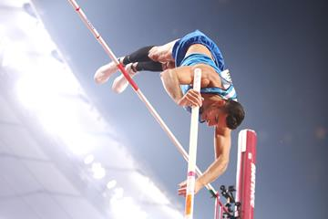 Claudio Michel Stecchi in the pole vault at the IAAF World Athletics Championships Doha 2019 (Getty Images)