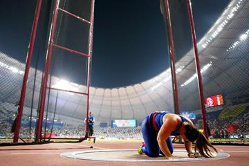 DeAnna Price in the hammer at the IAAF World Athletics Championships Doha 2019 (Getty Images)