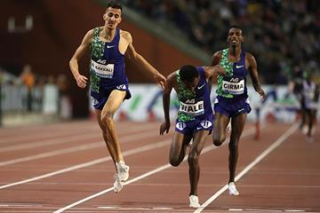Getnet Wale takes a narrow victory in Brussels to claim the Diamond Trophy in the steeplechase (Giancarlo Colombo)