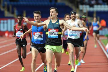 Jake Wightman wins the mile at the IAAF Diamond League meeting in Birmingham (Mark Shearman)