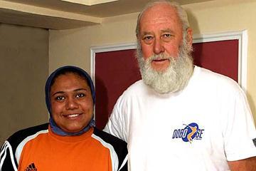 Marwa Hussein with Pal Nemeth (ATC Szombathely)