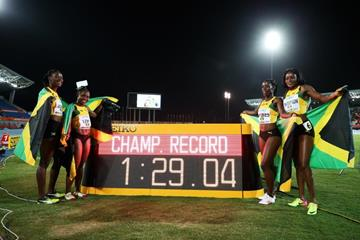Jamaica's victorious 4x200m squad at the IAAF/BTC World Relays Bahamas 2017 (Getty Images)