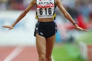Masako Chiba at the 2003 World Championships (Getty Images)