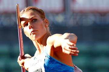Czech javelin thrower Nikola Ogrodnikova (AFP / Getty Images)