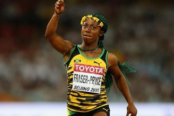 Shelly-Ann Fraser-Pryce wins the 100m at the IAAF World Championships, Beijing 2015 (Getty Images)