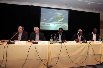 Local Organising Committee of the IAAF World Relays – Nassau, Bahamas 2014, deliver their progress report to the IAAF Council in Monaco (IAAF)