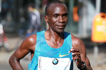 Eliud Kipchoge at the 2015 Berlin Marathon (Victah Sailer / organisers)