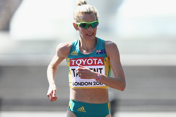 Australian race walker Claire Tallent in action at the IAAF World Championships (Getty Images)