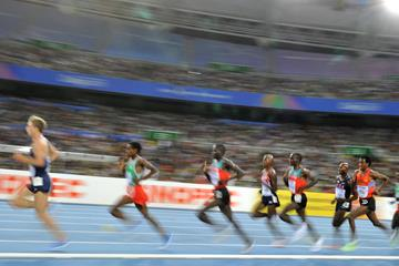 Athletes competing in the 5000m at the IAAF World Championships (Getty Images)