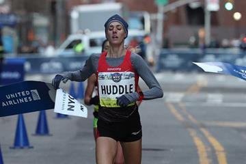 Molly Huddle winning the New York City Half Marathon (organisers)