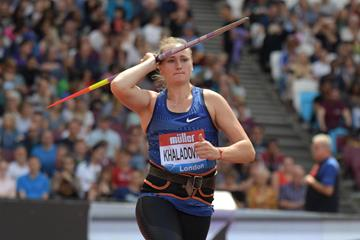 London Diamond League javelin winner Tatsiana Khaladovich (Kirby Lee)