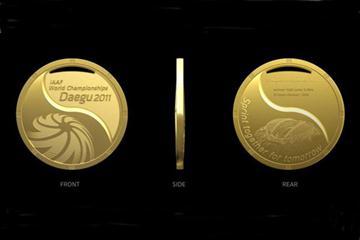 Medal design - 2011 IAAF World Championships, Daegu, Korea (IAAF.org)