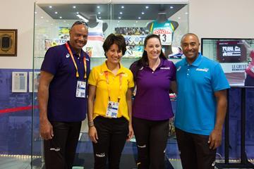 IAAF Continental Cup Team Captains at the IAAF Heritage exhibit in Ostrava (Bob Ramsak)