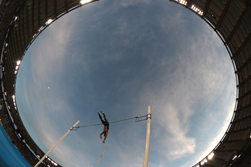 The men's pole vault at the IAAF Diamond League meeting in Rome (AFP / Getty Images)