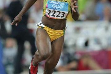Veronica Campbell of Jaamaica in the 200m quarter finals (Getty Images)