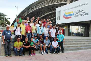 Participants at the media development project in Cali (Escuela Nacional del Deporte)