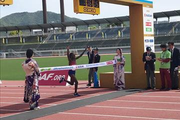 Ruth Chepngetich wins the Gifu Seiryu Half Marathon  (Rosa E Associati)