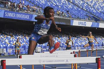 Italy's Ayomide Folorunso at the World University Games in Naples (Organisers)