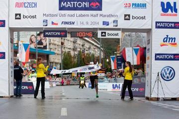 Adugna Takele wins the Usti nad Labem Half Marathon (Organisers)