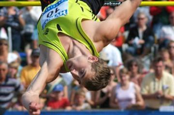 Andrei Krauchanka flying on the way to his breakthrough victory in Götzis (Lorenzo Sampaolo)
