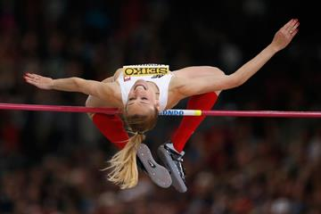 Kamila Licwinko in the high jump at the IAAF World Indoor Championships Portland 2016 (Getty Images)