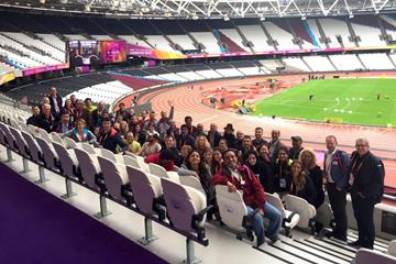 Participants in the IAAF Observer Programme at the London Stadium (IAAF)