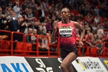 Abeba Aregawi in action in the 1500m in Stockholm (DECA Text & Bild)