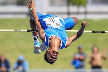 Breyton Poole at the South African U18 Championships (Roger Sedres)