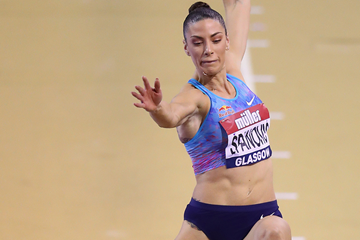 Ivana Spanovic in action at the Muller Indoor Grand Prix (Getty Images)