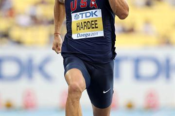 Trey Hardee of the USA in the Decathlon's 100m (Getty Images)
