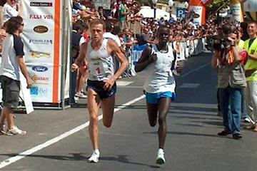 Baldini and Kirui battle shoulder to shoulder in the 16th Memorial Peppe Greco (Alberto Zorzi)