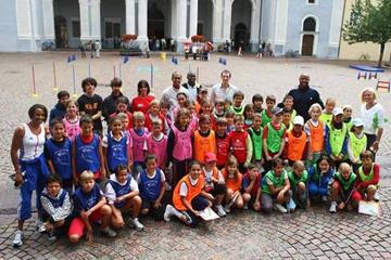 IAAF Ambassadors during Kids Athletics in Bressanone (Getty Images)