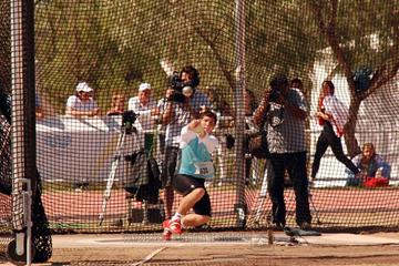 Argentina's Joaquín Gómez spins to an Area Youth record in Mendoza (Lisandro Scarpin/CADA)