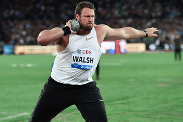Shot put winner Tom Walsh at the IAAF Diamond League final in Zurich (Mark Shearman)