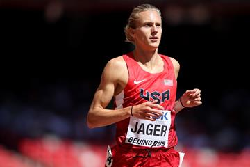 Evan Jager in the steeplechase at the IAAF World Championships (Getty Images)