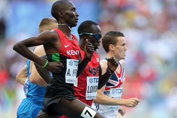 Asbel Kiprop in the mens 1500m semi-finals at the IAAF World Athletics Championships Moscow 2013 (Getty Images)