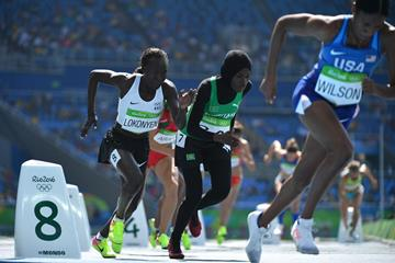 Rose Nathike Lokonyen competes in the 800m at the Rio 2016 Olympic Games (AFP / Getty Images)