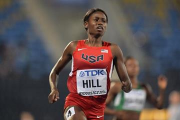 Candace Hill wins the 100m at the IAAF World U20 Championships Bydgoszcz 2016 (Getty Images)