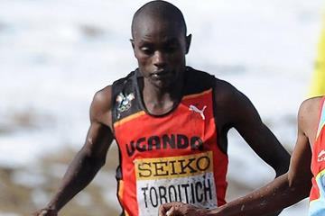 Timothy Toroitich in the senior men's race at the IAAF World Cross Country Championships (Getty Images)